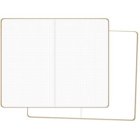 Комплект внутренних блоков  (13х21 см ) для блокнотов -2 шт- Carpe Diem Traveler's Notebook Inserts- One Blank/One Grid