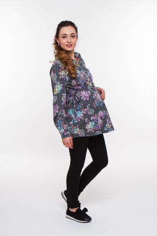 Блузка 07930 серый