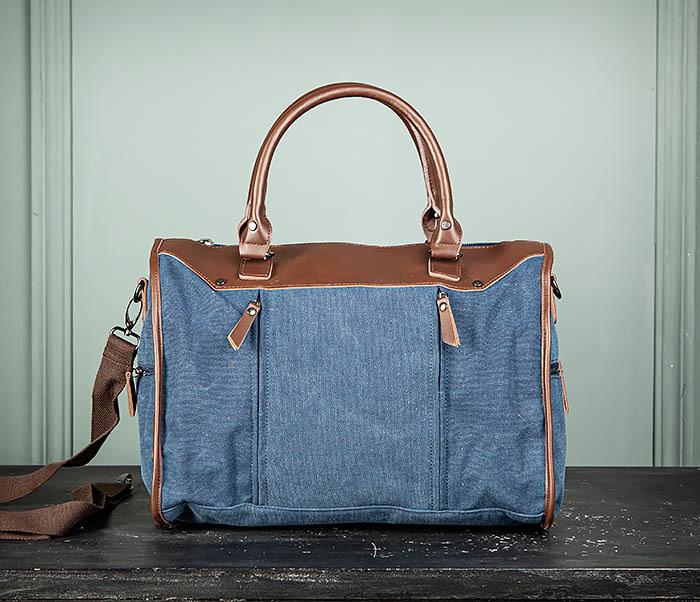 BAG501-3 Сумка для ручной клади из ткани синего цвета