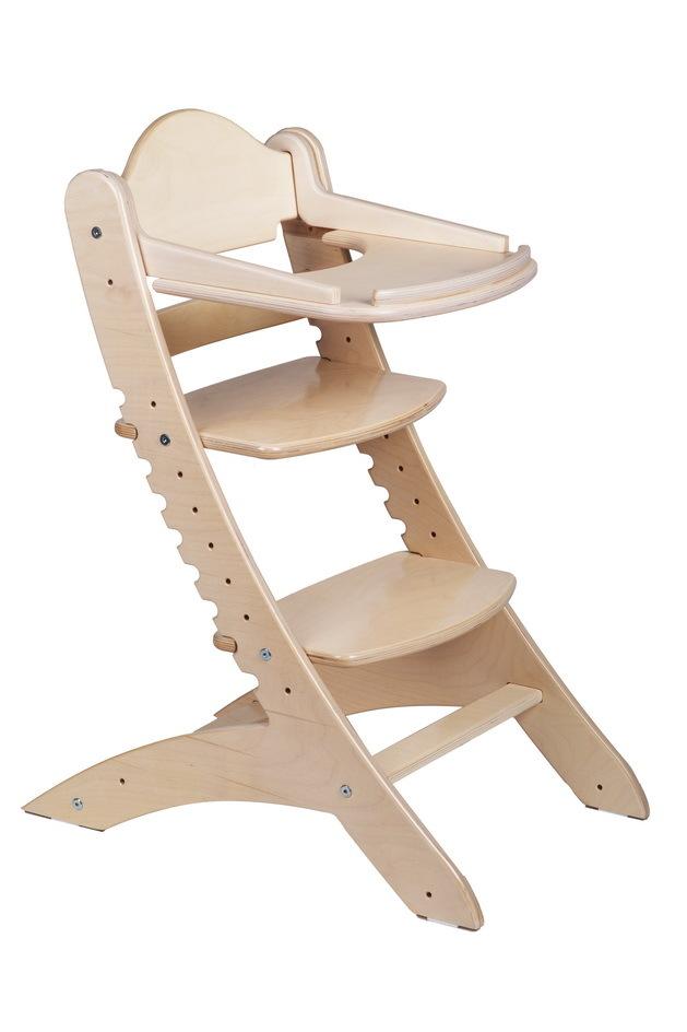Детский растущий стул Два кота М1 Белый дуб