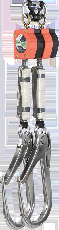 """Двухплечевое средство защиты втягивающего типа """"НВ-02"""" с карабином """"Монтажный 110"""""""