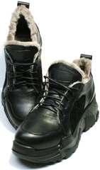 Угли кроссовки на массивной подошве женские зимние Studio27 547c All Black.