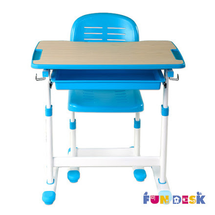 Комплект: парта и стул-трансформеры PICCOLINO голубой