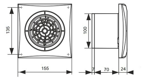 Накладной вентилятор Эра AURA 4C IVORY D100 с обратным клапаном