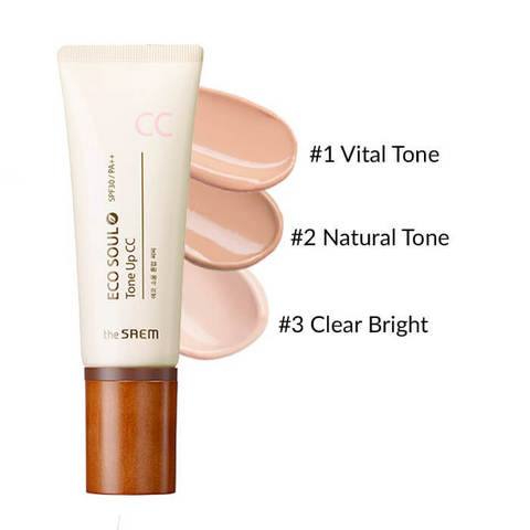 THE SAEM ECO SOUL СС Крем 02 Eco Soul Tone Up CC 02 Natural Tone 35гр