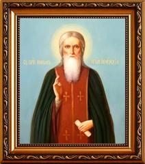 Никон Печерский преподобный игумен. Икона на холсте.