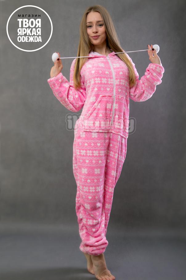 Пижамы кигуруми Розовая Снежинка snowflake_pink.jpg