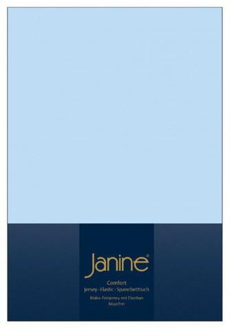 Элитная простыня на резинке Elastic-Jersey 5002 светло-голубая от Janine
