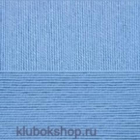 Пряжа Цветное кружево (Пехорка) цвет 15 темно-голубой
