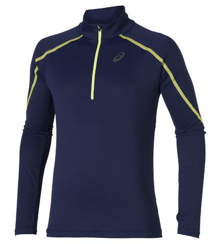 Мужская беговая рубашка Asics Lite-Show LS Zip (124756 8052) темно-синяя