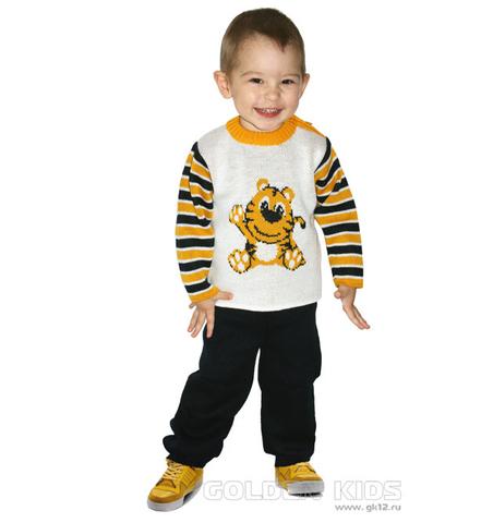 Golden kids Комплект вязаный Тигренок желтый