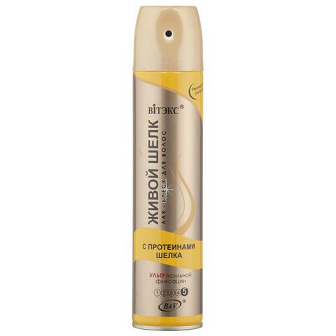 Витэкс Аэрозольные лаки для волос Лак-блеск для волос с протеинами шелка ультрасильной фиксации 300 мл