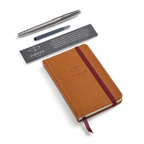Набор с блокнотом и Перьевая ручка Parker Sonnet , Stainless Steel CT123