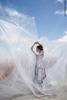 Двусторонняя репетиционная юбка, испачканная принтом