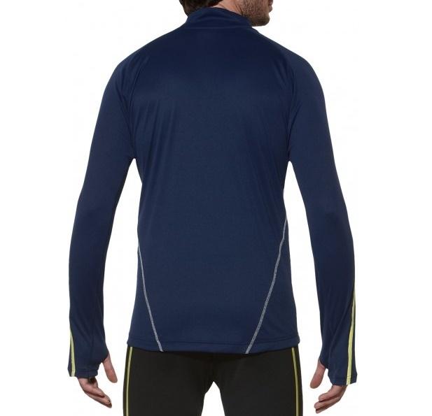 Мужская беговая рубашка Asics Lite-Show LS Zip (124756 8052) темно-синяя фото