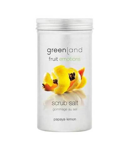 Скраб-соль для тела Папайя-лимон, Greenland
