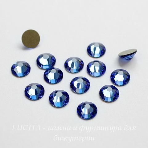 2028/2058 Стразы Сваровски холодной фиксации Sapphire ss12 (3,0-3,2 мм), 10 штук