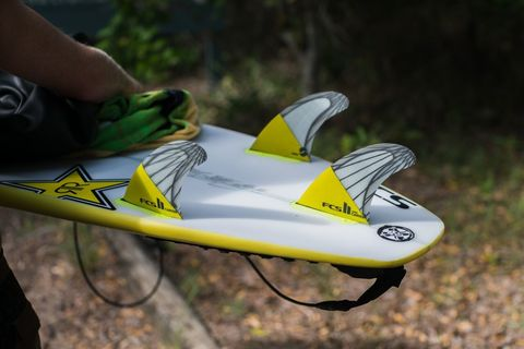 Плавники FCS II Carver PC Carbon Yellow Large Tri Retail Fins компл. из трех L