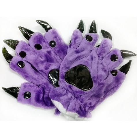 Перчатки кигуруми фиолетовые