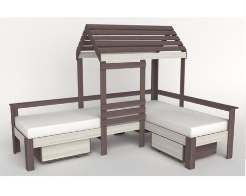 Кровать-домик АВАРА-8 левая