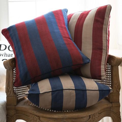 Элитная подушка декоративная Rhode Island Stripe дымчато-синяя от Casual Avenue Турция
