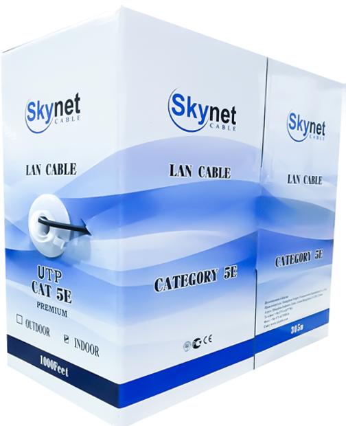 Купить кабель витая пара UTP indoor 4x2x0,46 24AWG Cu, Fluke test, 305м., SkyNet Light (CSL): цена за метр