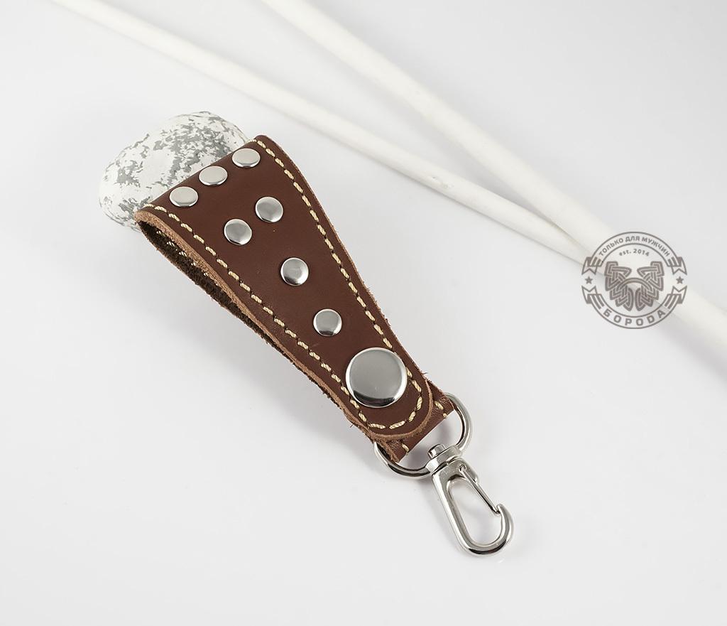Boroda Design, Кожаный брелок ручной работы (коричневый)