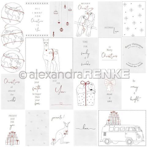 Лист одностороннего кардстока 30х30 см -Alexandra Renke Lena's Christmas Design Paper- Southern Hemisphere- 1 шт