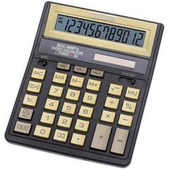 Калькулятор настольный CITIZEN SDC-888TII Gold,12 разр, зол