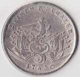 K0690, 1750, Германия, Пруссия, 12 талера, Ag