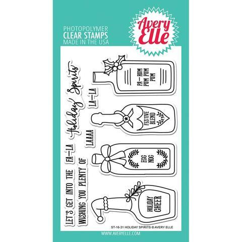 Комплект силиконовых штампов + координирующие  ножи -Holiday Spirits