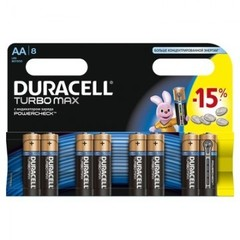 Батарейки DURACELL АА/LR6-8BL TURBO Max бл/8