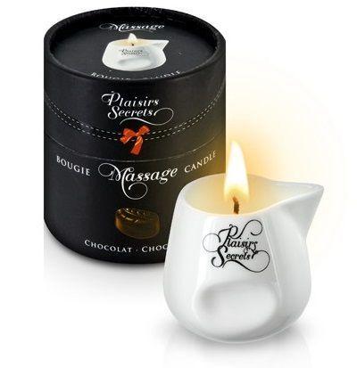 Массажные масла и свечи: Массажная свеча с ароматом шоколада Bougie de Massage Gourmande Chocolat - 80 мл.