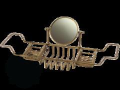Полка-решетка на ванну с оптическим зеркалом Migliore Complementi H27xL66-105xP19 cm D18 cm (3X) ML.COM-50.172