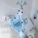 Игровой коврик к вигваму Blue Stripes Tipi голубые полосы