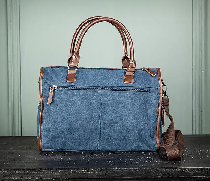 BAG501-3 Сумка для ручной клади из ткани синего цвета фото 10