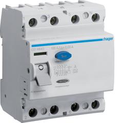Устройство защитного отключения 4P 100A/30mA-A,6kA