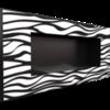 Биокамин Kratki Delta 2 Zebra встраиваемый в стену