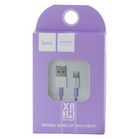 Кабель iPhone 5 Hoco X8 (под оригинал), purple