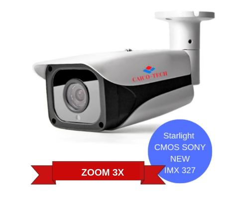 Уличная светочувствительная видеокамера CAICO TECH CCTV 5527D STARLIGHT следующего поколения CMOS Sony STARVIS IMX 327 ZOOM 3X 2.8-12mm моторизован AVTO FOCUS AVTO IRIS