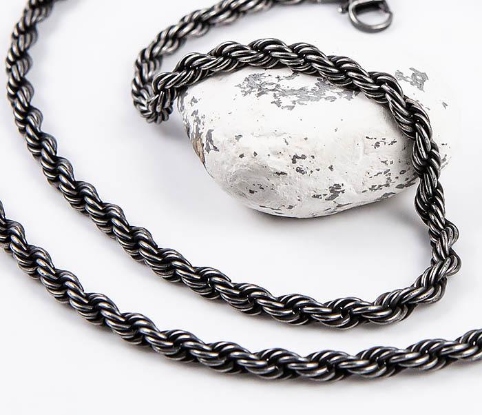 Крученая цепочка из стали цвета Gun Metall цепочка с подвеской sogni 925 201102251