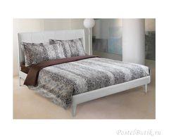 Постельное белье 2 спальное евро Roberto Cavalli Grace коричневое