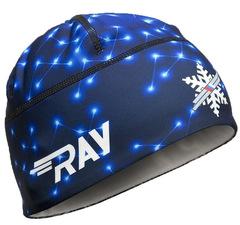 Лыжная шапка RAY RACE синий геометрия