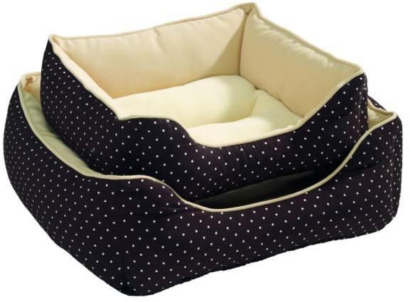 Лежанки Софа для собак и кошек Hunter White Dots 40x40 см коричневая 44734.jpg