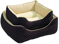 Софа для собак и кошек Hunter White Dots 40x40 см коричневая