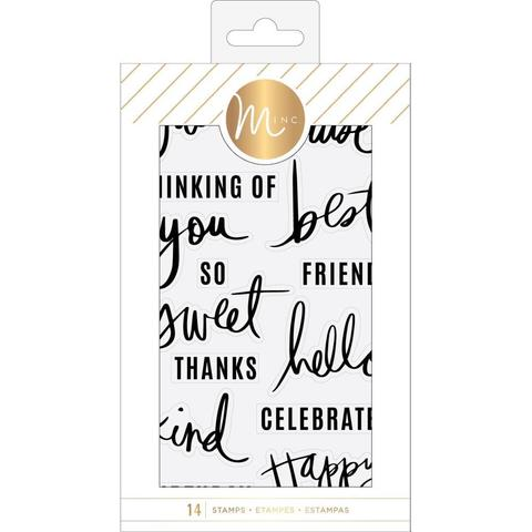 Силиконовые штампы Heidi Swapp Minc Clear Stamps -Sentiments
