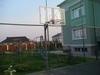 Стойка баскетбольная Г-обр уличная стационарная бетонируемая вынос 1.2 м (щит 1800х1050мм оргстекло 10мм)