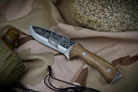 Туристический нож Глухарь с глубоким Рисунком