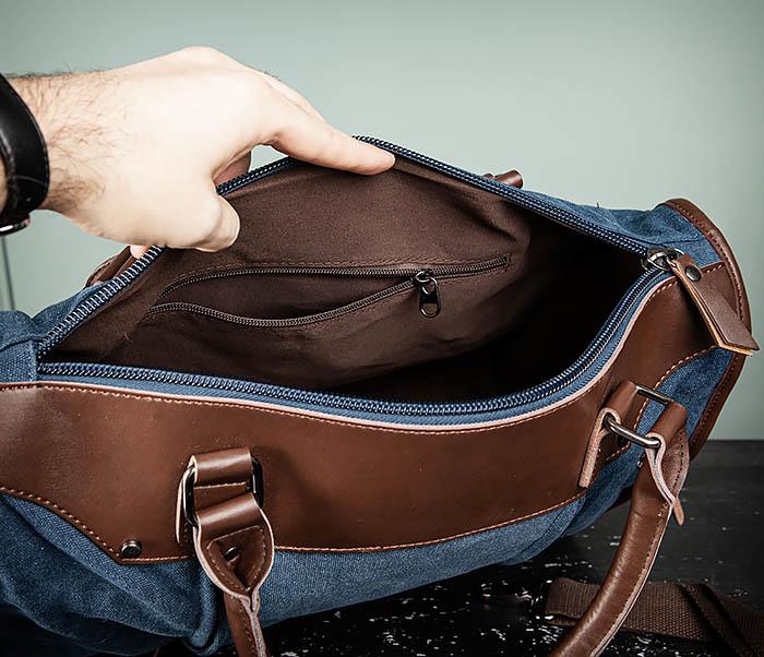 BAG501-3 Сумка для ручной клади из ткани синего цвета фото 11