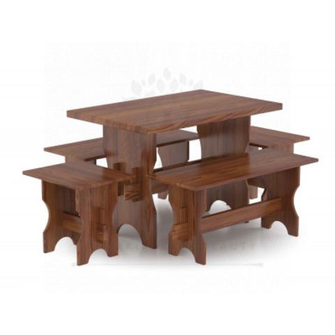 Комплект мебели (стол, скамейки) - 6 чел. (лиственница морёная)